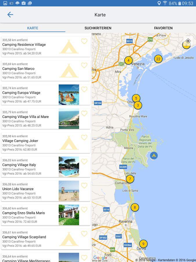 Motorhome overnight parkings - ADAC Camping / Stellplatz app for Android (https://play.google.com/store/apps/details?id=de.adac.camping16)