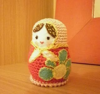 Knitted house .: Matryoshka (scheme). Free crochet pattern, pdf saved