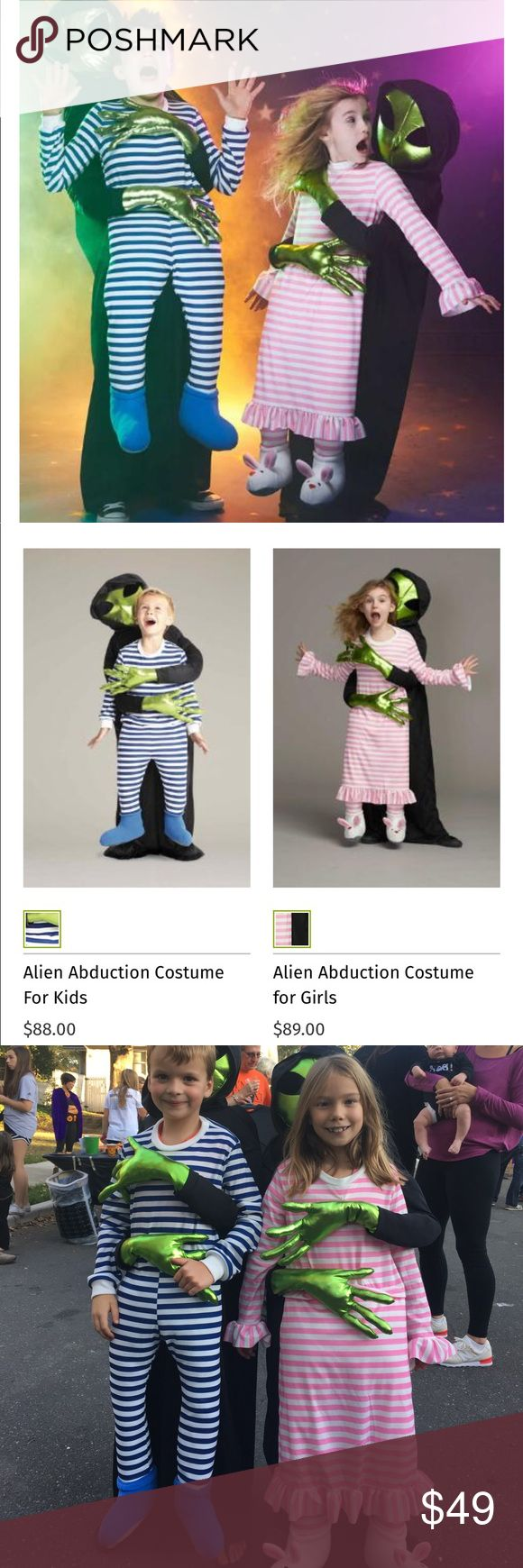Alien Abduction Costume for Girls - HUGE hit! Best Halloween costume ever!  Lots of people asking for pictures!  Girl version only.  Size 8/10 Chasing Fireflies Costumes Halloween