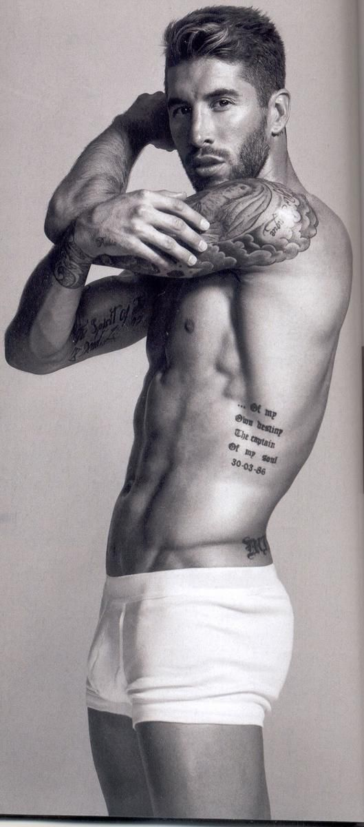 Sergio Ramos. One of the best bodies I've ever seen!