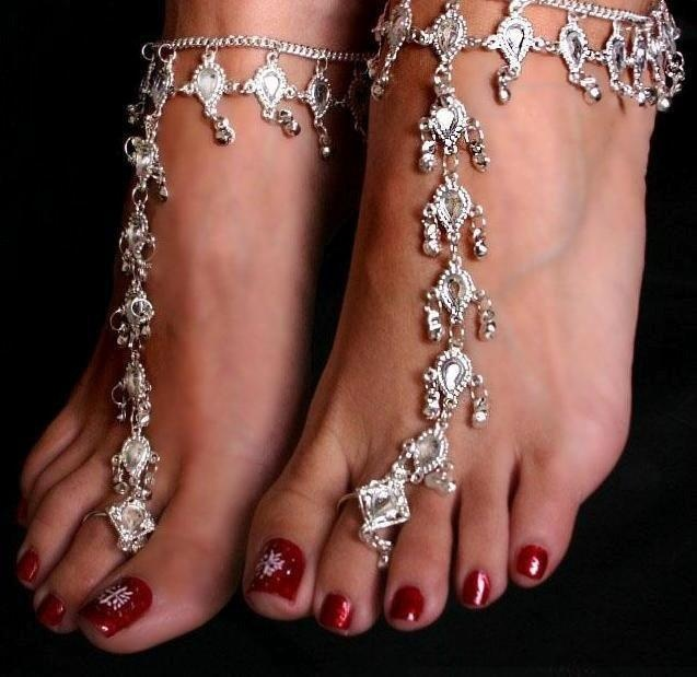 East Indian foot jewelry