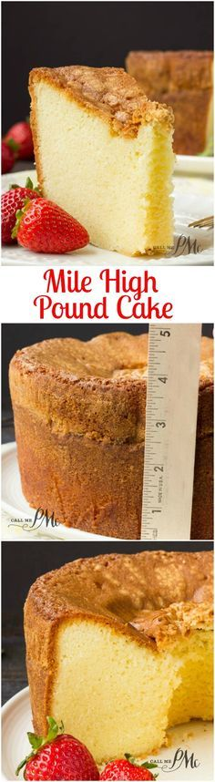 Mile High Pound Cake recipe is dense, moist and over-the-top good! It has a crusty outside and top with a buttery soft, small crumb inside.