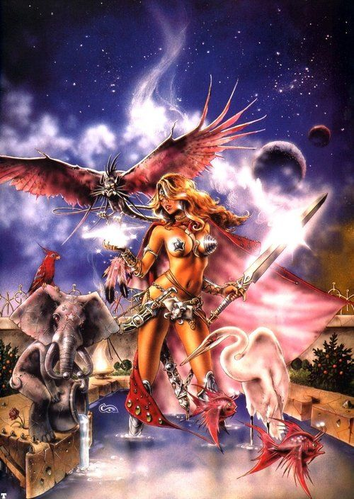 Season Of The Witch by Clyde Caldwell.
