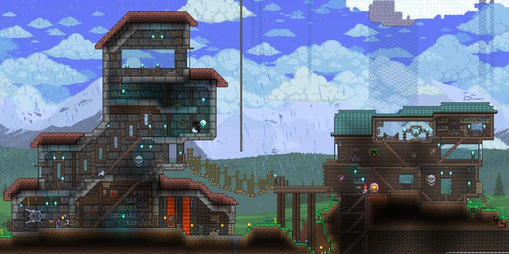 42 best terraversity inspiration builds images on for Best house designs terraria