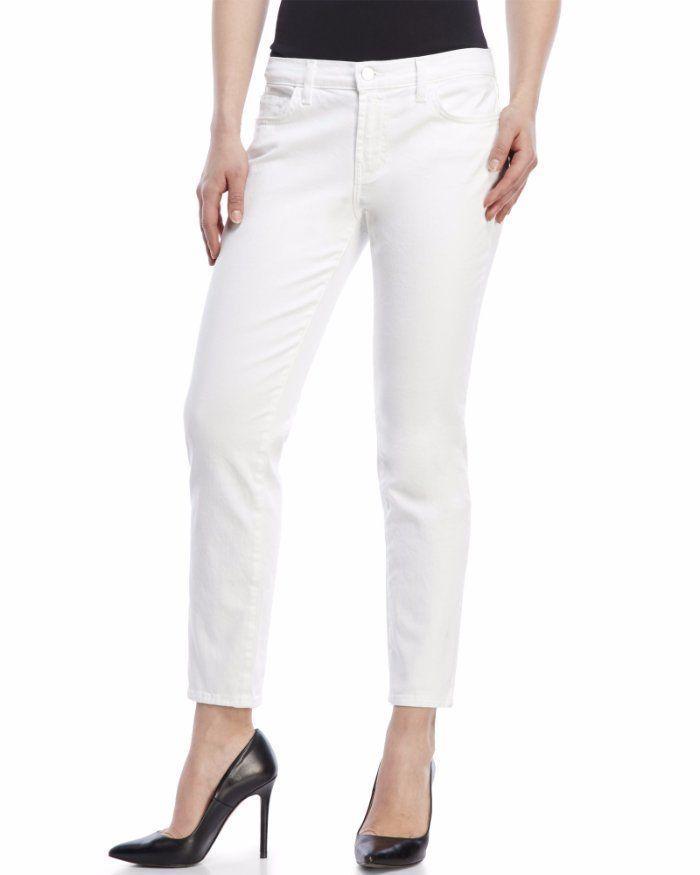 $188 J Brand White Cropped Ellis Awaken White Capri Jeans 23 25 NEW J345 #JBrand #CapriCropped