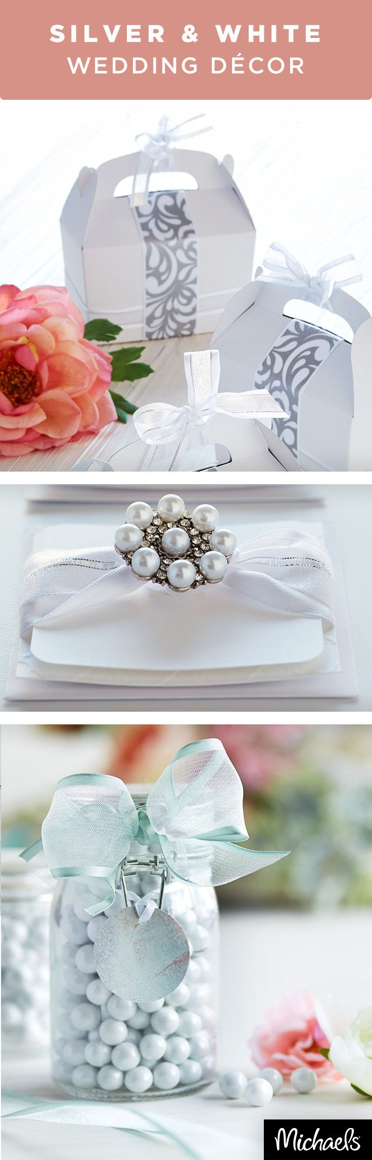 happily ever after wedding invitations%0A DIY your happily ever after with handmade wedding details in silver and  white  From favor
