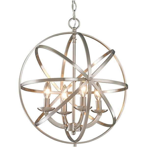 Brighten your home with this stunning chandelier from Z-Lite. The chandelier holds four  sc 1 st  Pinterest & Best 25+ Orb light ideas on Pinterest | Orb light fixture Orb ... azcodes.com