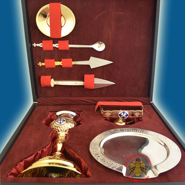 Ecclesiastical Set with Carrying Case Hand Made , Ecclesiastical Special Cases, www.Nioras.com - Byzantine Orthodox Art & Greek Traditional Products