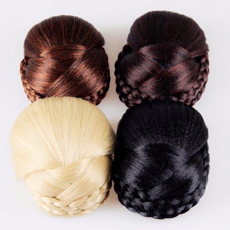 Hoge Kwaliteit Gevlochten Knot Ovale Chignon Roller Haarstukken Haaraccessoires voor Vrouwen HG190