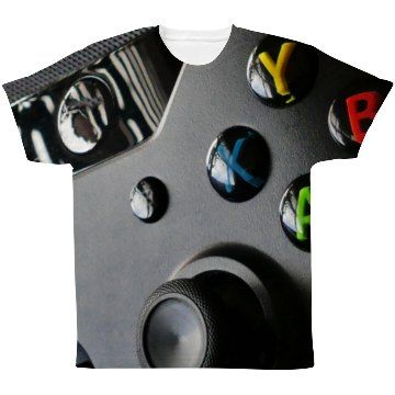 Video Gamer Nerd Controller Print   Hey all of you gamer nerds, this one's for you. We know you wish you could be sitting on your couch beating the last level in the latest game, but when you have to get up and do something else at least do it while wearing this shirt.
