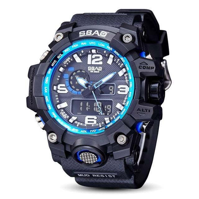 SBAO Military Sport Watch Men Top Brand Luxury Famous Electronic LED Digital Wrist Watches For Men Male Clock Relogio Masculino
