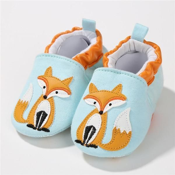 Baby Shoes First Walkers Fox Style Soft Sole Shoes Newborn Moccasins Non-slip
