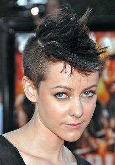 Girly mohawk hairstyle