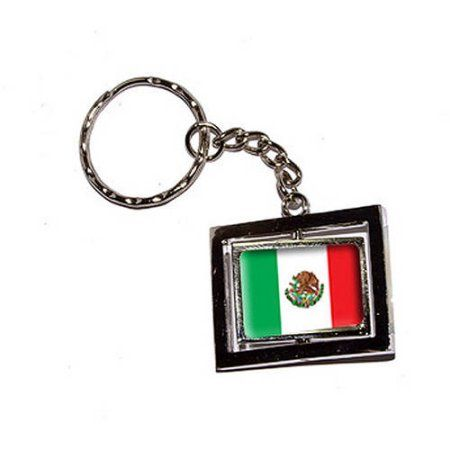 Mexico Country Flag New Keychain Ring, Silver