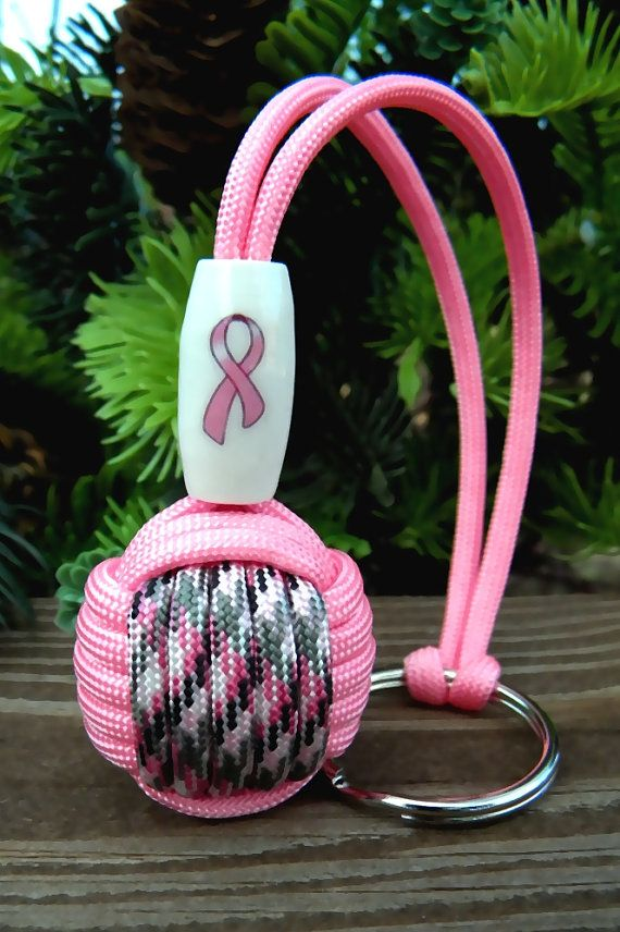 Breast cancer awareness paracord monkey