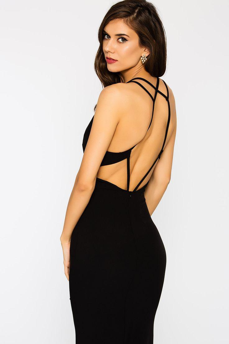 159.99 TL (KDV dahil) Én Vie by Lidyana Chanelle Sırt Detaylı Siyah Elbise ::