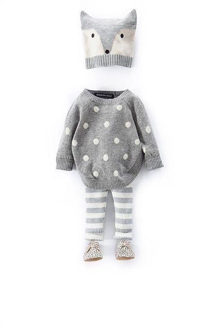 ensemble gris pour petit renard : )