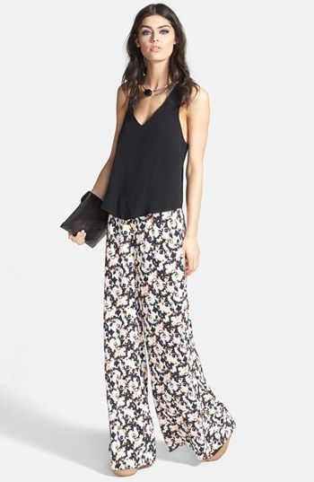 ASTR Tank & Pants | Nordstrom: Style, Silk Pants, 70S, Silk Tanks, Exact Outfits, Tanks Pants, Floral Pants, Thes Pants, Wide Pants