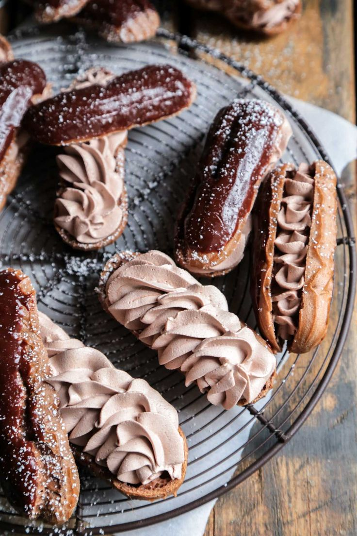 Triple Chocolate Eclairs - The perfect chocolate fix, and a recipe that is easy to make at home!!
