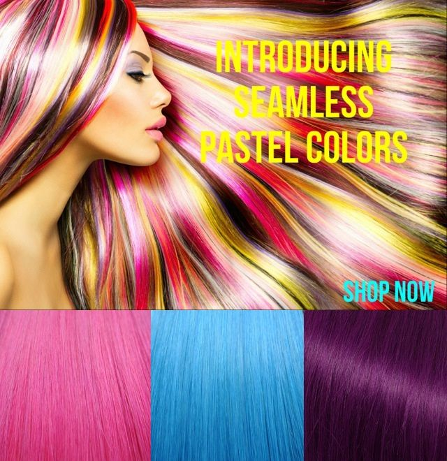 33 Best Glam Seamless Pastel And Bright Hair Extensions Images On