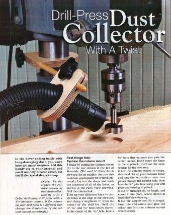#588 Drill Press Dust Collection Jig - Drill Press Dust Collection
