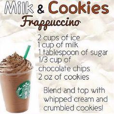 Milk and cookies frappuccino starbucks recipe recipes drink recipes easy recipes summer recipes instagram images starbucks recipes