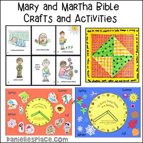 Mary and Martha Bible Lessons with Crafts and Learning Activities