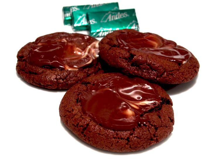 Andes Creme de Menthe Chocolate Brownie Cookies