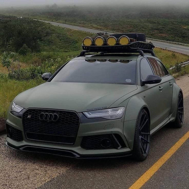 Audi Quattro – The colour on this Audi with the roof rack is sharp