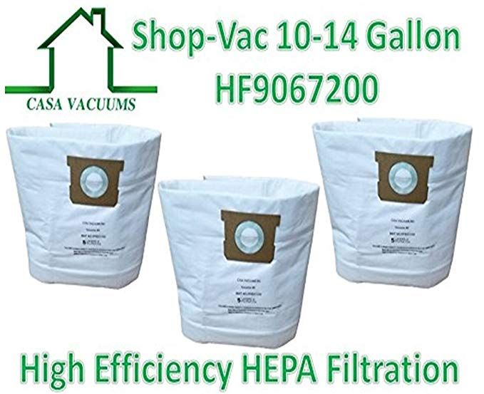 Casa Vacuums Replacement For Shop Vac 9067200 10 14 Gallon Type I Type F Compatible High Efficiency Disposable Hepa Filtration Vacuum Reviews Shop Vac Type I
