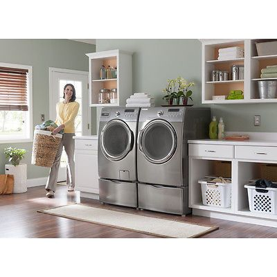 25 best ideas about washer dryer sets on pinterest laundry sinks small laundry area and - Small space laundry set ...
