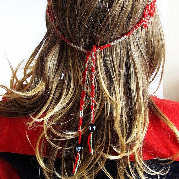 crochet headband red and green #handmade #etsy #etsyfind  #Hairband #hair #headband #redandgreen #christmasgift #Headpiece #GirlsHeadband