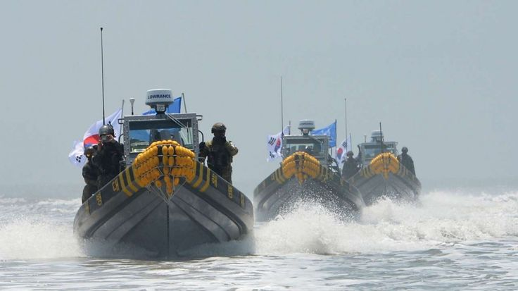 10/11/16 South Korea vows armed crackdown against Chinese fishing boats after sinking of coast guard ship A patrol boat sank last week during an operation against a group of Chinese vessels fishing illegally off the Korean peninsula's west coast