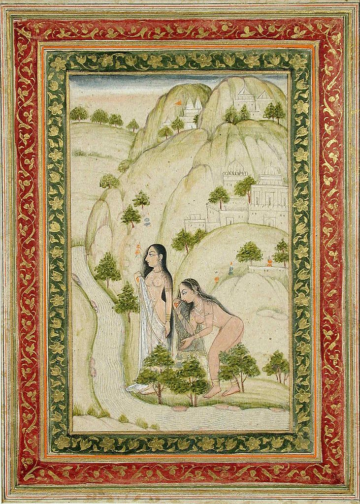 https://flic.kr/p/8nuht2 | Ladies bathing in a stream | Accession Number: 1990:550 Display Title: Ladies bathing in a stream Suite Name: Media & Support: Opaque watercolor and gold on paper Creation Date: 18th century Creation Place/Subject: India State-Province: Court: School: Deccani Display Dimensions: 7 15/32 in. x 4 3/4 in. (19 cm x 12.1 cm) Credit Line: Edwin Binney 3rd Collection Label Copy: Marks: Bibliography: Repository: The San Diego Museum of Art