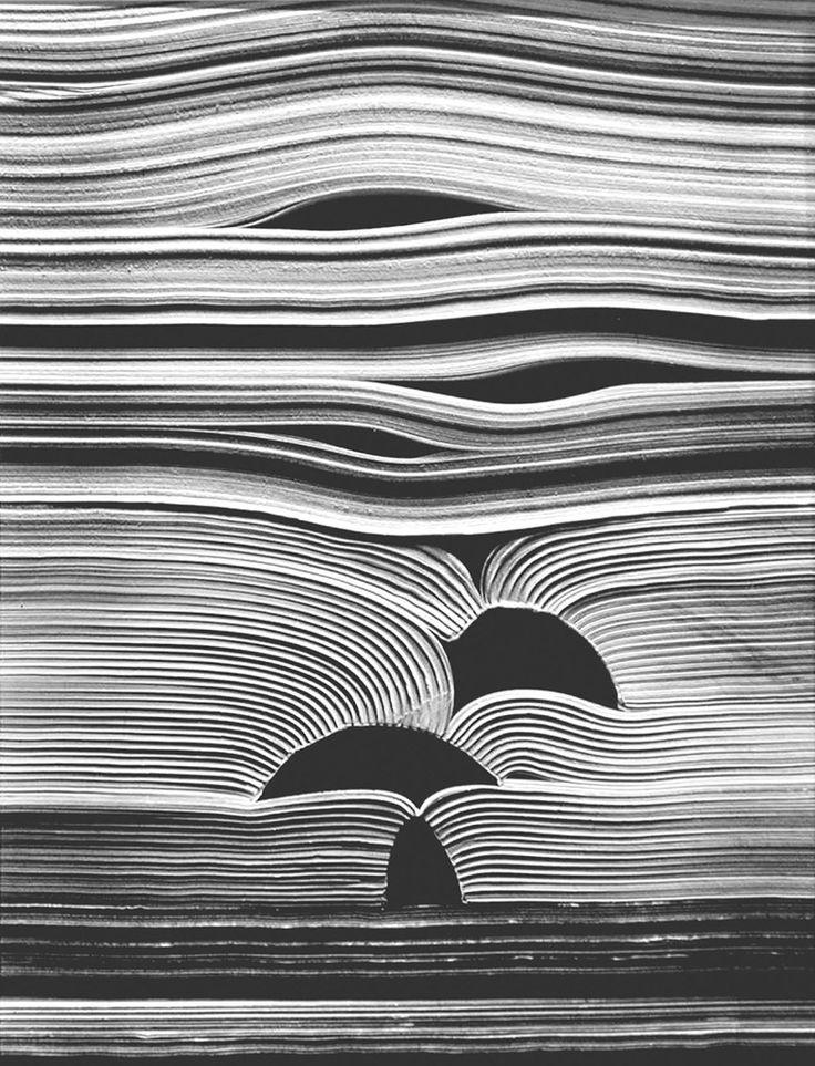 blanco libro, blanco página (fotografía de Kenneth Josephson)