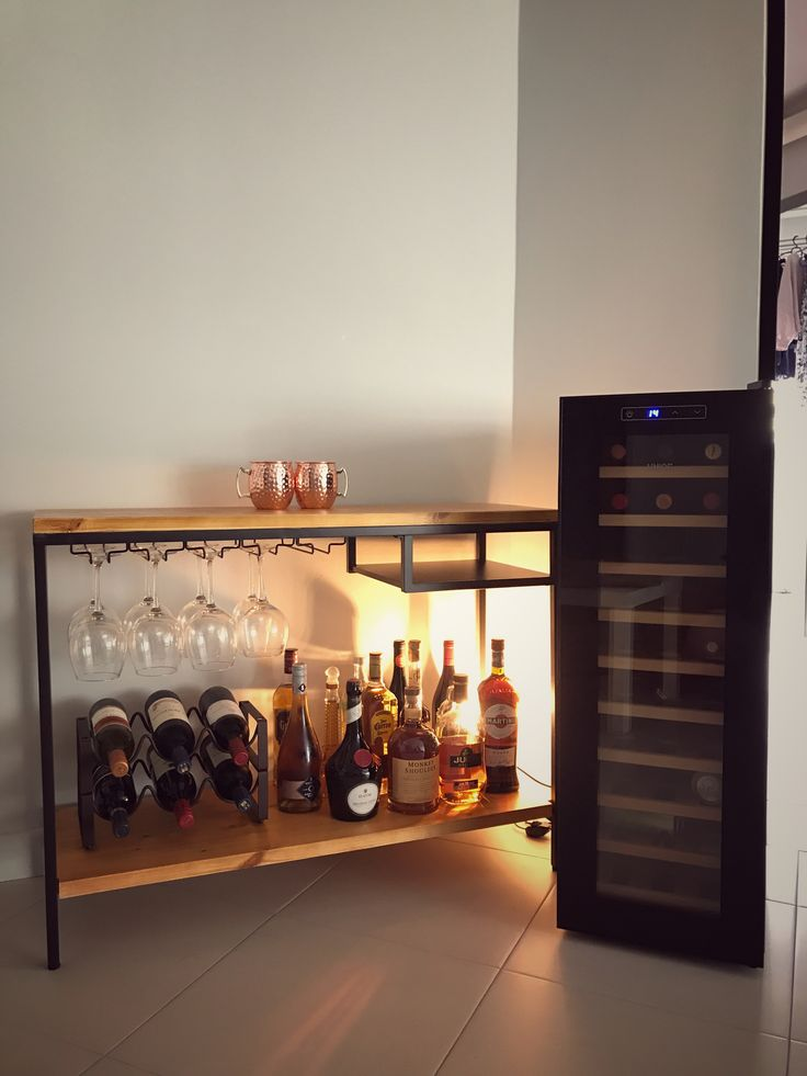 IKEA wine bar hacks. Thanks for all the great ideas from Pinterest!