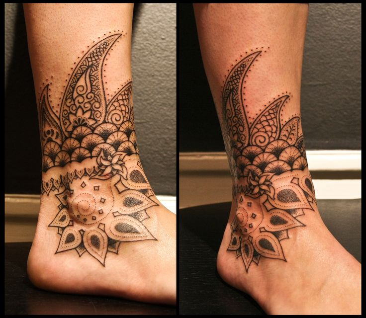 indian henna inspired anklet tattoo - Google Search ...