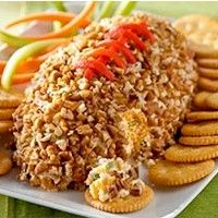 Cheesy Football - Have the kids help you mix and shape this fun football shaped cheese ball.