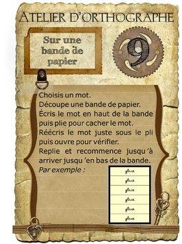 Étude de mots - Ortho mémo  Magnifiques cartes pour ateliers d'étude d'orthographe.