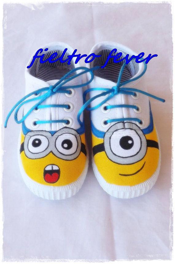 Minion shoes Despicable Me shoes despicable me by FieltroFever