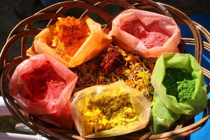 Delhi, India - buying colours for Holi
