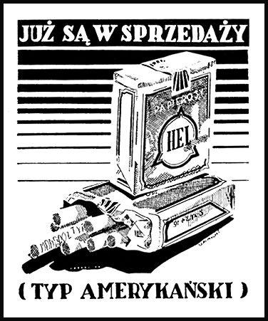 Papierosy Hel - reklama prasowa, 1935 rok