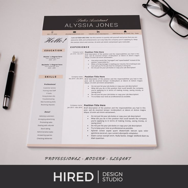 83 best Modern, Professional  Elegant Resume Templates images on
