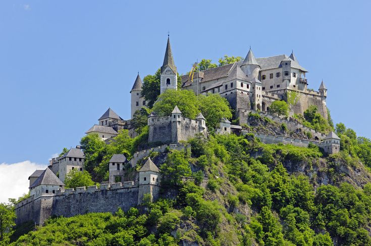 Hochosterwitz Castle in Carinthia is considered to be one of Austria's most impressive medieval castles.