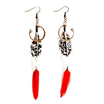 Awesome :) Lady Amherst Feather Earrings by Crow Jane Jewelry