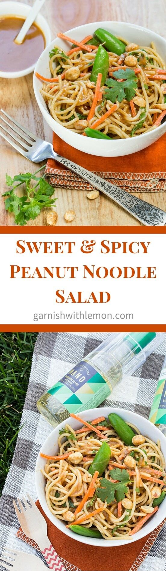 Summer nights don't get much better than dining al fresco with a make ahead Sweet and Spicy Peanut Noodle Salad ~ http://www.garnishwithlemon.com