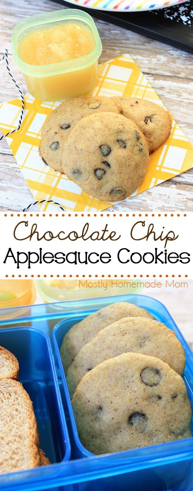 Chocolate Chip Applesauce Cookies - These are the perfect snack or treat for tucking into a lunch box this fall! #ad with @Rubbermaid