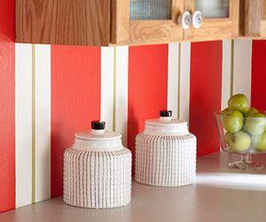 bold kitchen makeover on a budget backsplash ideaskitchen - Painted Backsplash Ideas Kitchen