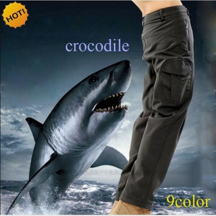 NEW 2017  Winter Thicken TAD Shark Skin Soft Shell charge Sweat pant Fleece Camoflage Warm trousers Waterproof pants Men