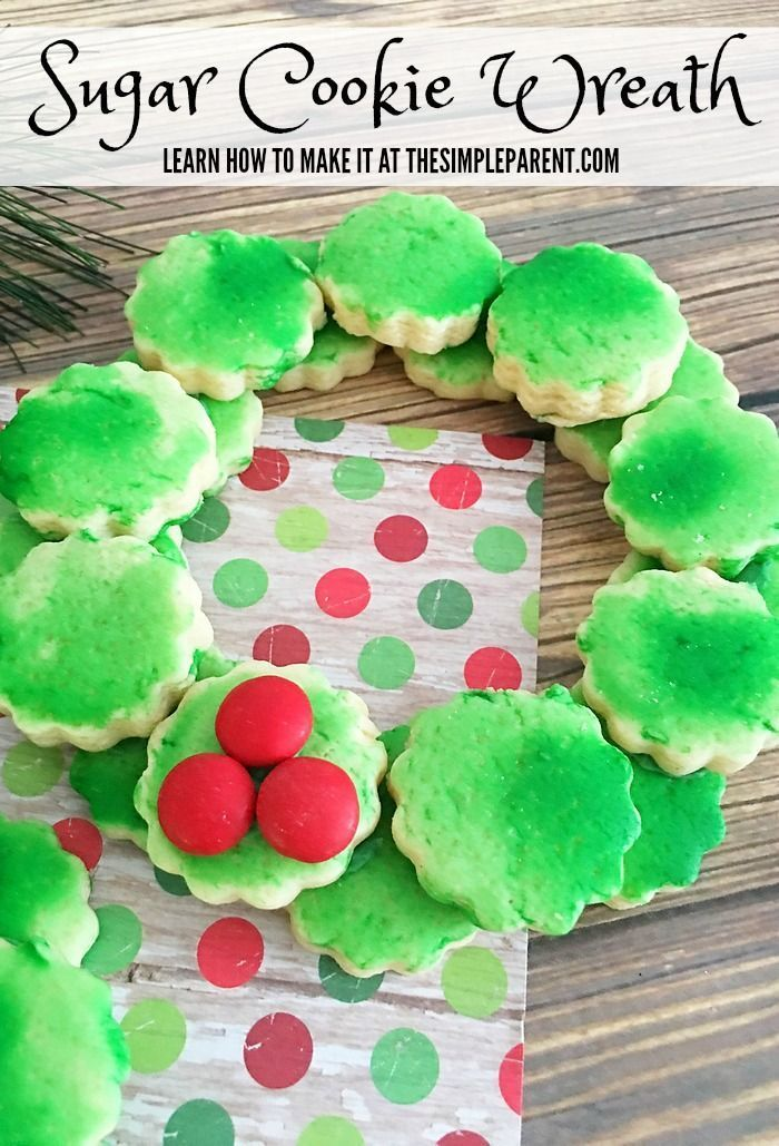 Christmas Cookie Ideas Sugar Cookie Wreath * Fun For Kids